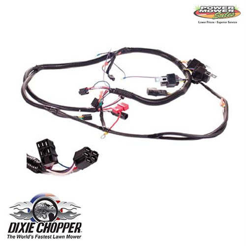 dixie chopper kohler 40hp wiring harness, 500098 custom mil-spec wire harness kohler 40hp wiring harness 500098